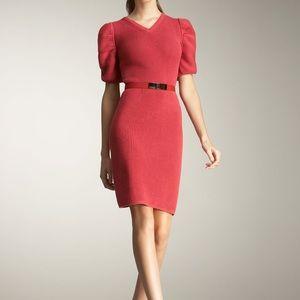 FENDI Nuance Pink puff sleeve sweater dress